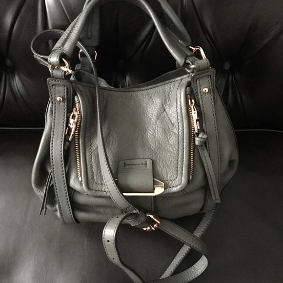 90cc6f8cd5 Kooba Handbags - New KOOBA Mini Jonnie Gray Leather CrossBody Tote